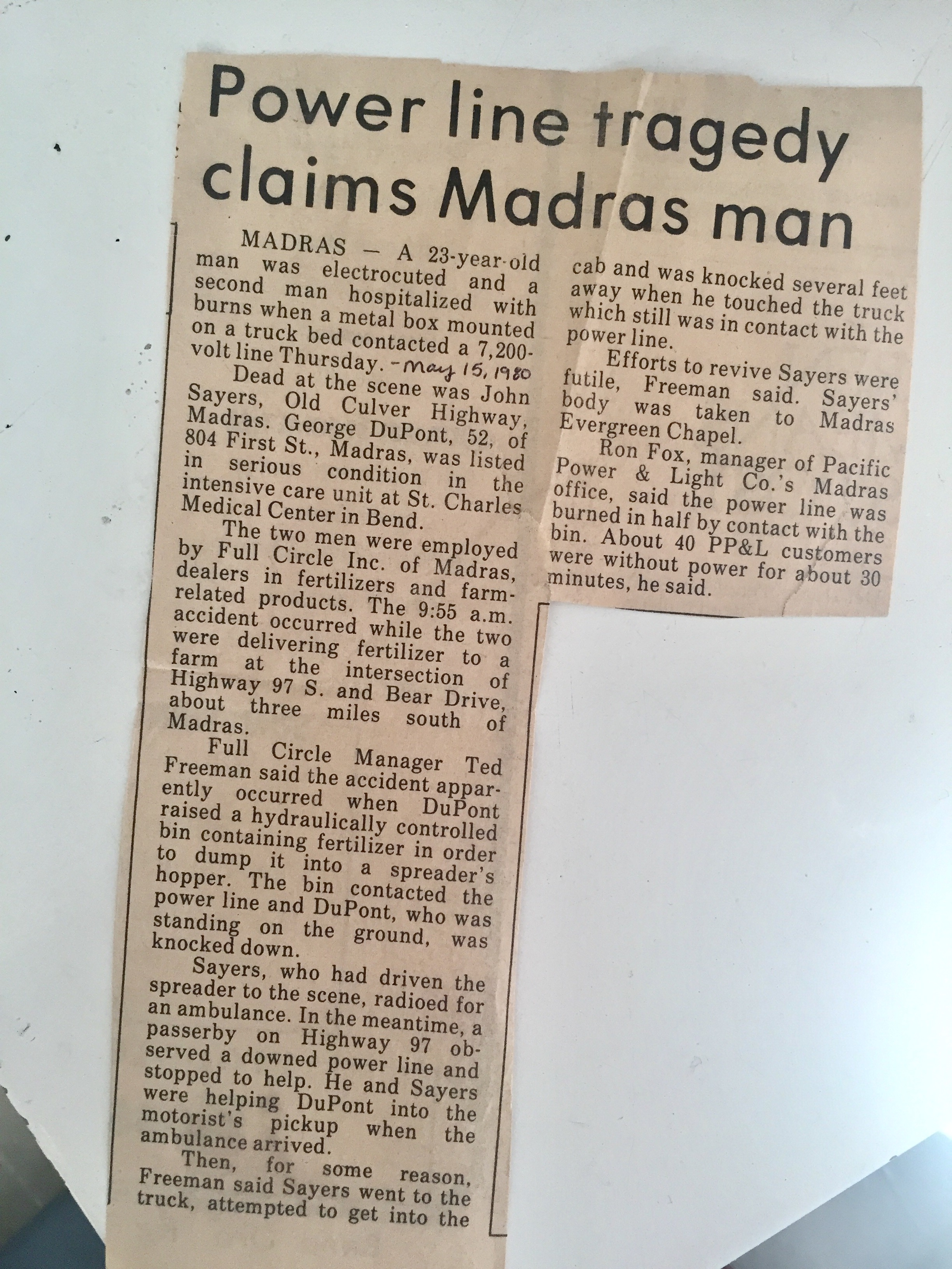Fucking newspaper clipping